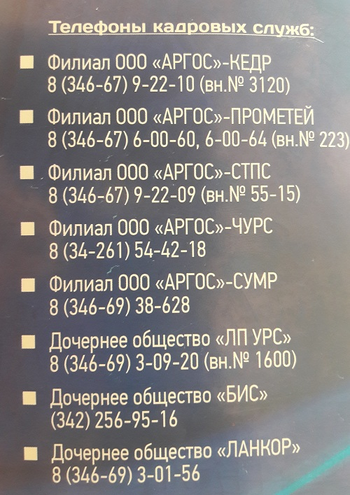 Аргус ООО когалым Лангипас