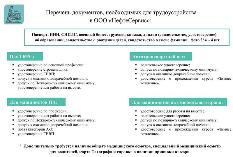 ООО Нефтесервис документы