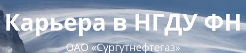 КАРЬЕРА В НГДУ ФН